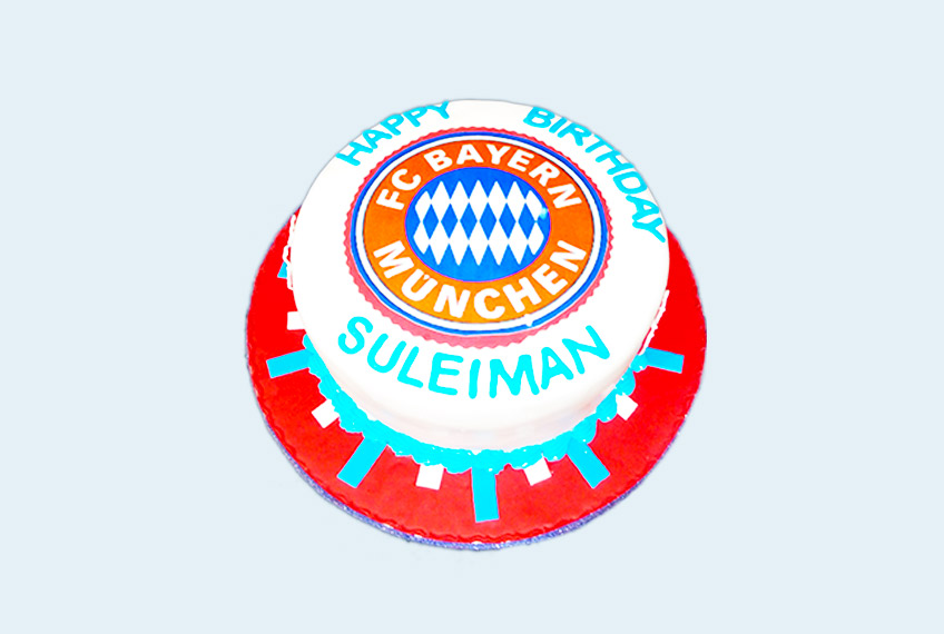 Bayern munich birthday cake