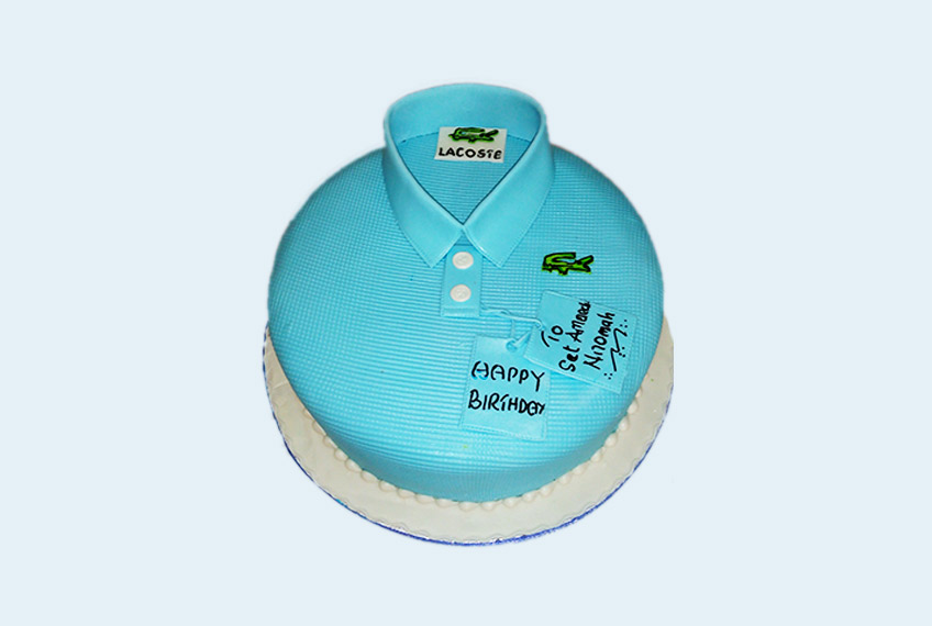 Blue lacoste shirt birthday cake