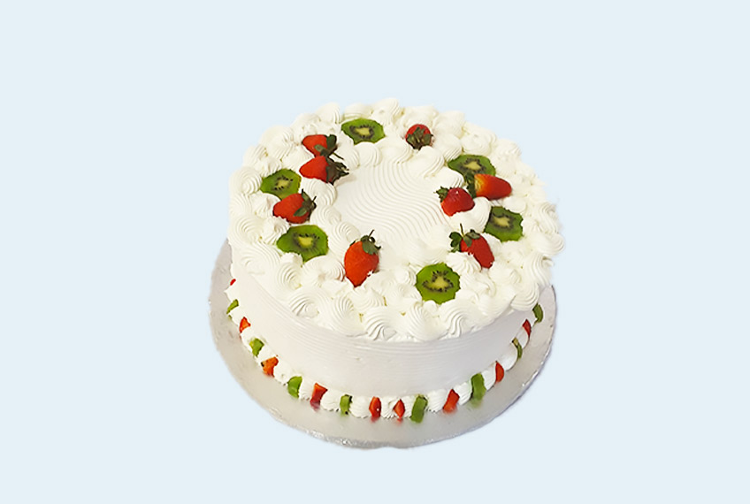 Butter strawberry birthday cake