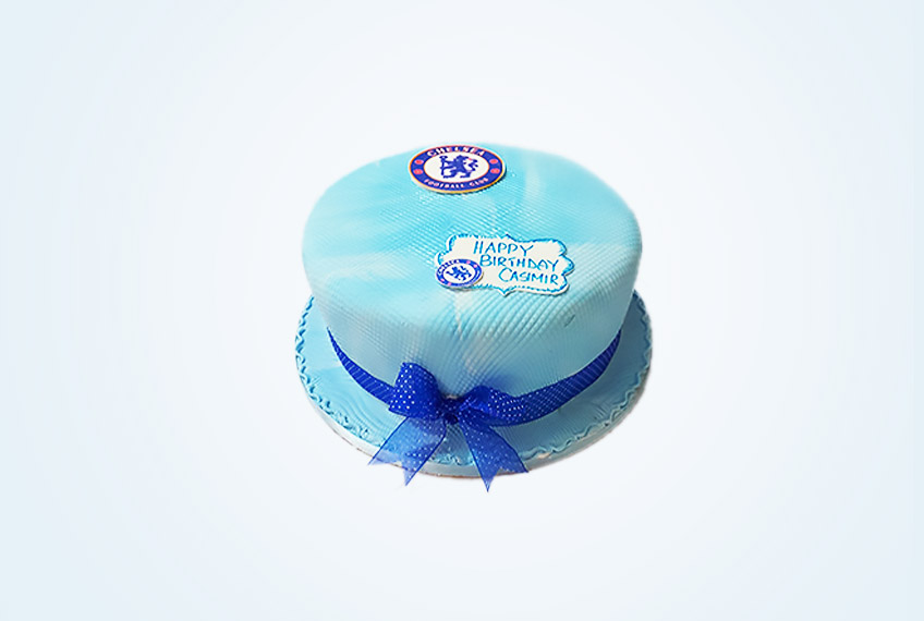 Chelsea fc rocks birthday cake