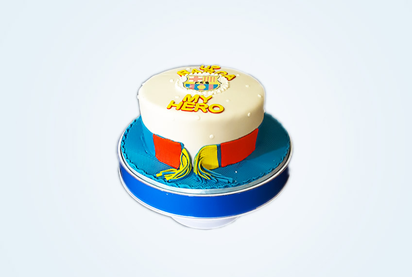 Hero barcelona birthday cake