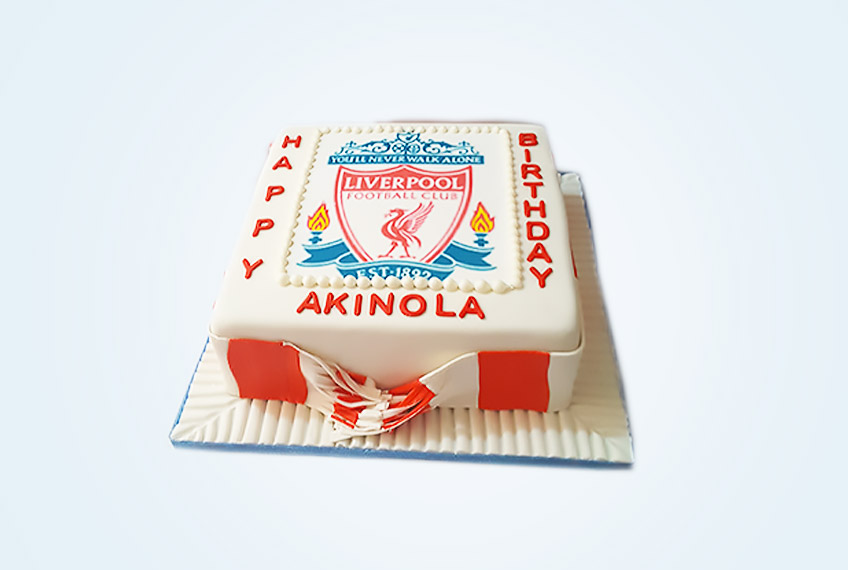 Never walk alone liverpool fc birthday cake