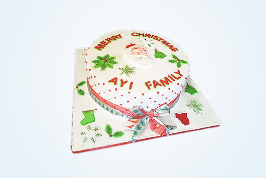 Ayi's family merry christmas cake