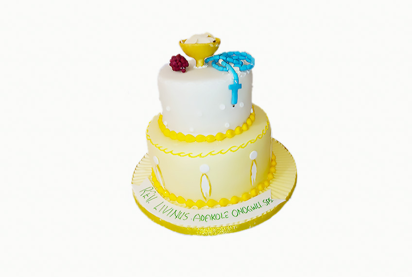 Catholic celebration cake