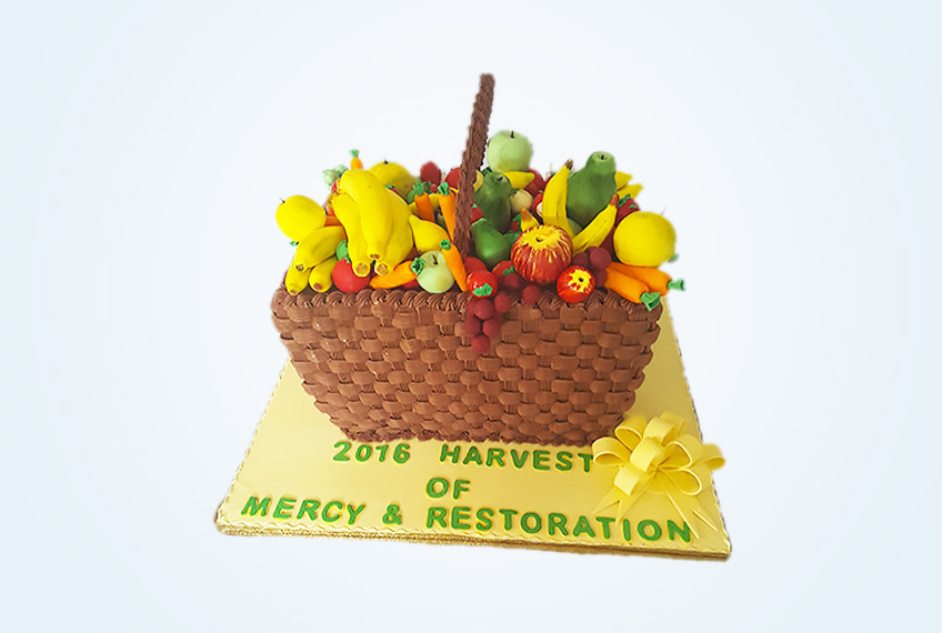 Catholic harvest and thanksgiving cake