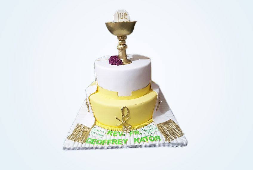 Catholic priestly ordination celebration cake