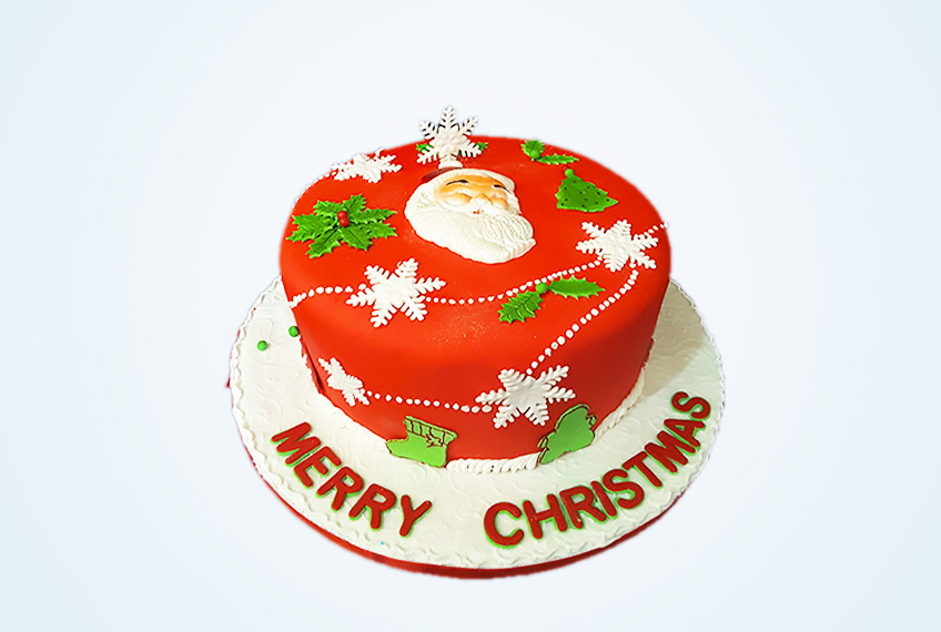 Grand christmas birthday cake