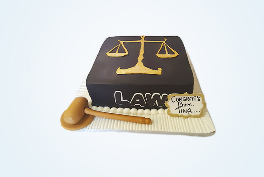 Square call to bar lawyers cake