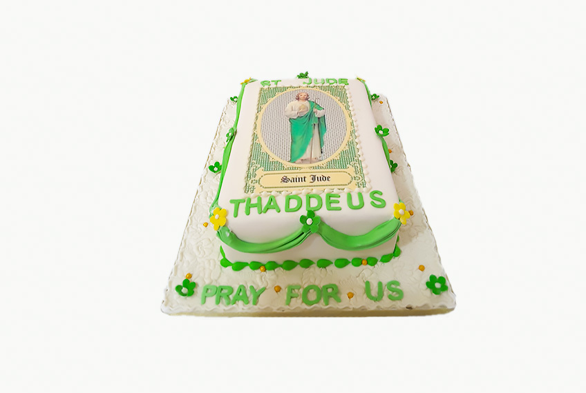 St jude thaddeus celebration cake