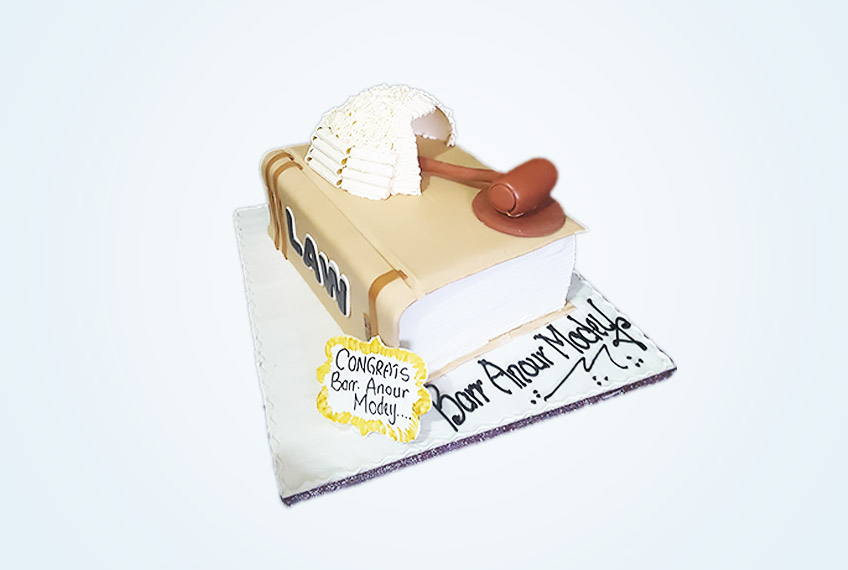 The law call to bar cake