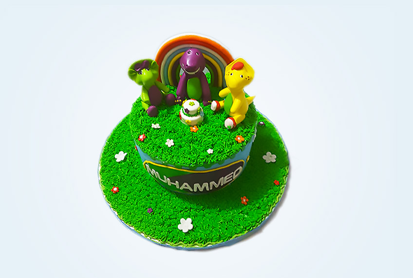 Barney and friend birthday cake