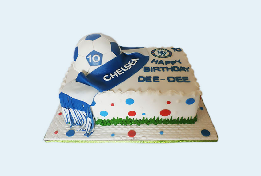 Chelsea fc rectangle birthday cake