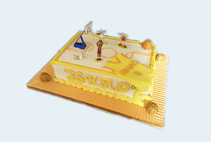 Gold NBA basketball cake