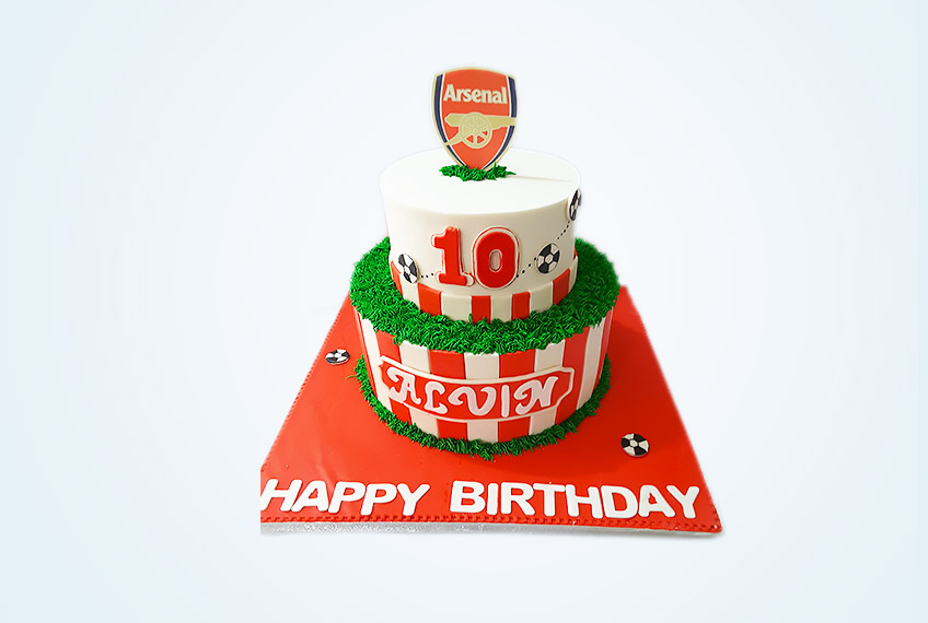 Perfect 10 arsenal birthday cake
