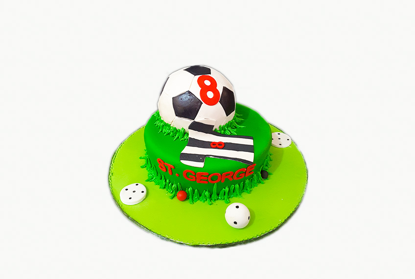st-george football birthday cake