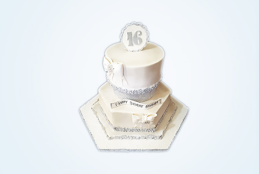 Super favour two-tier birthday cake