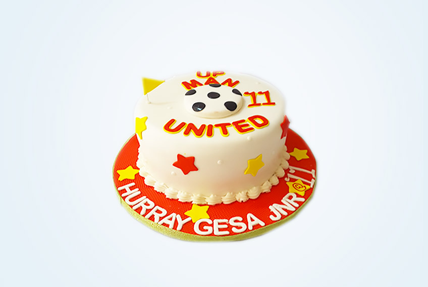 Up man utd birthday cake