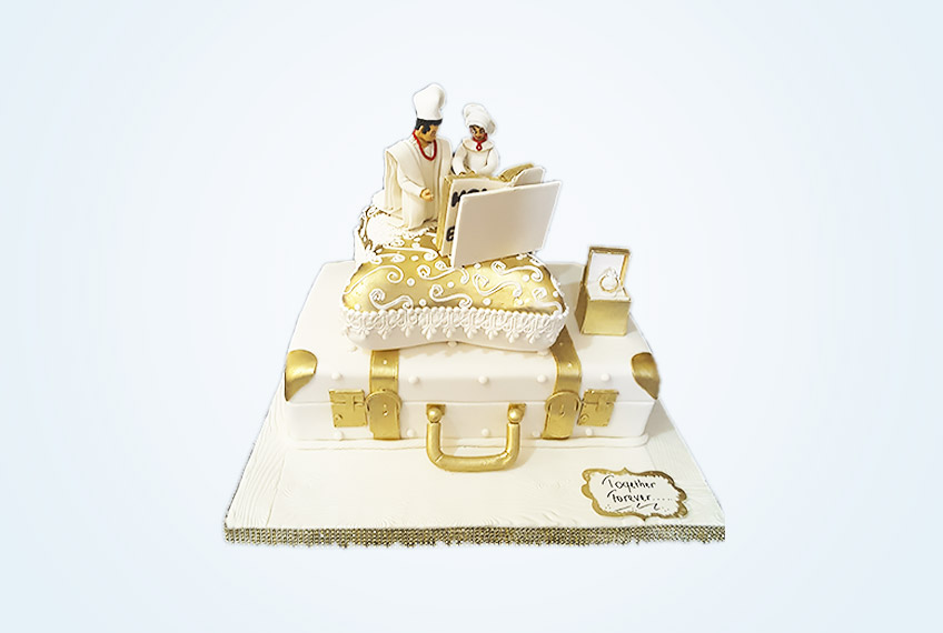 Forever traditional marriage cake
